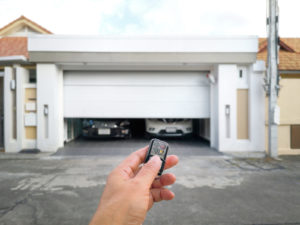 How do you secure a garage door from the inside
